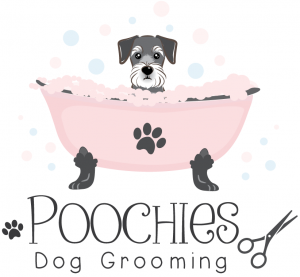Poochies Dog Grooming Logo